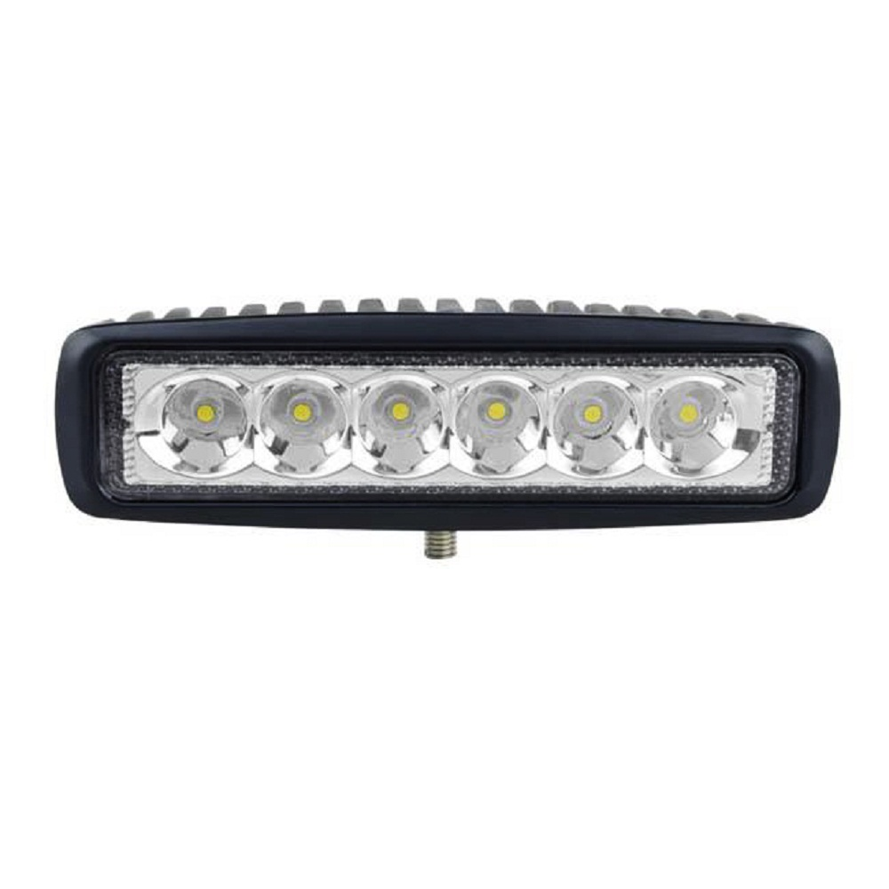 Proiector LED Auto Offroad 18W/12V-24V, 1320 Lm, Lungime 16 cm, Flood Beam 90°